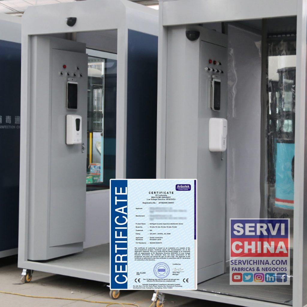 Camara Desinfectante Cabina de Desinfección